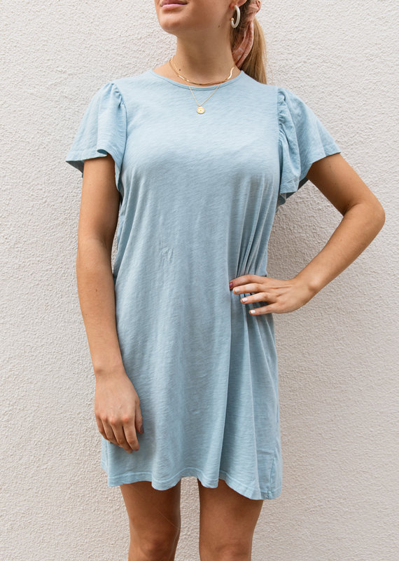 Adelante Sofia Cotton Blue Dress