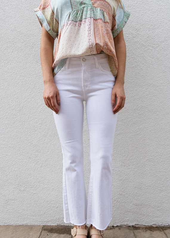 Adelante High Rise Flare Cropped Jeans