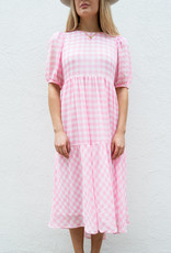 Adelante Pink Checkered Dress