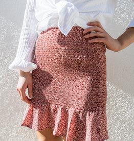 Adelante Smocked Mini Skirt