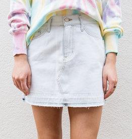 Adelante Light Washed Jean Skirt