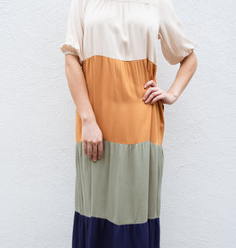 Adelante Striped Maxi Dress