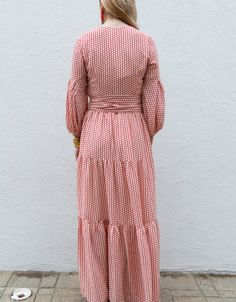 Adelante Red Dot Maxi Dress