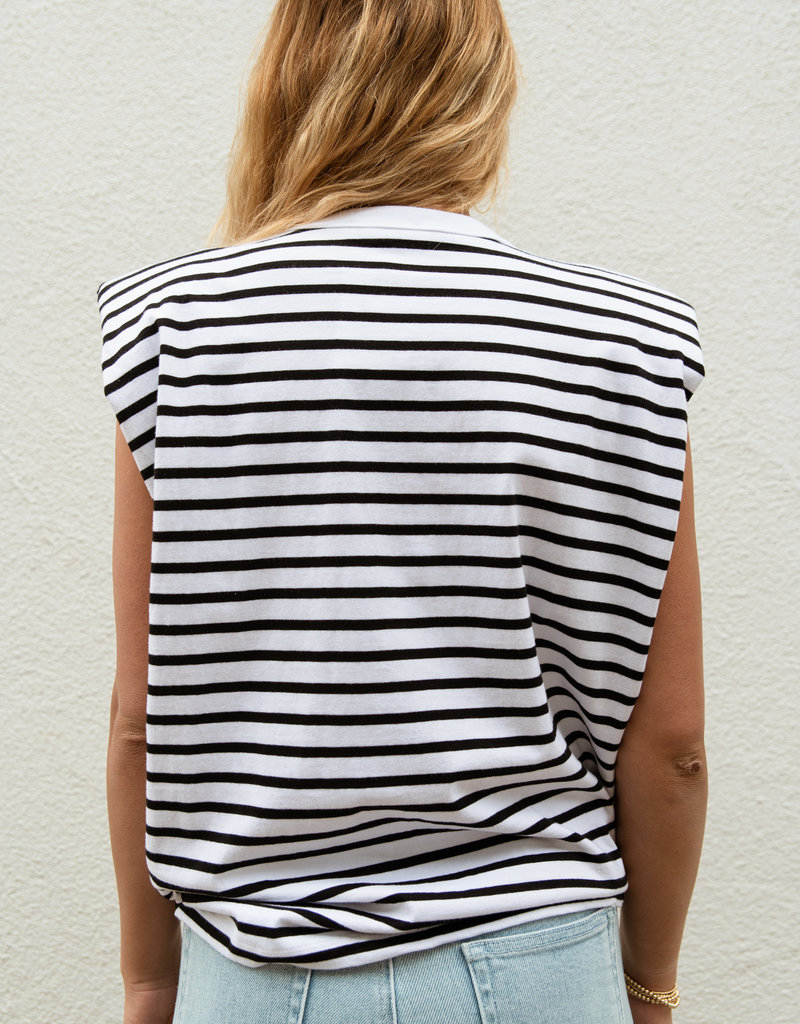 Adelante Striped Knit Top