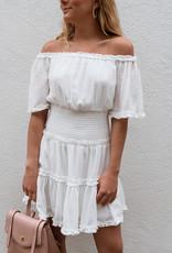 Adelante Off Shoulder Woven Dress
