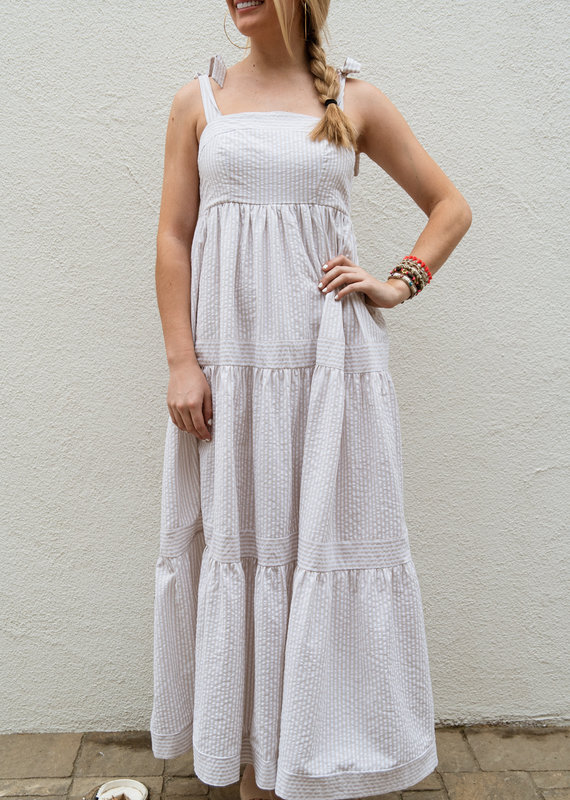 Adelante Striped Maxi Dress