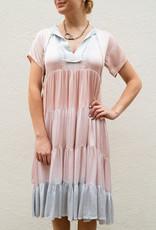 Adelante Tie Dye Tier Midi Dress