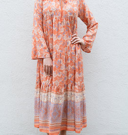 Adelante Floral Boho Maxi Dress