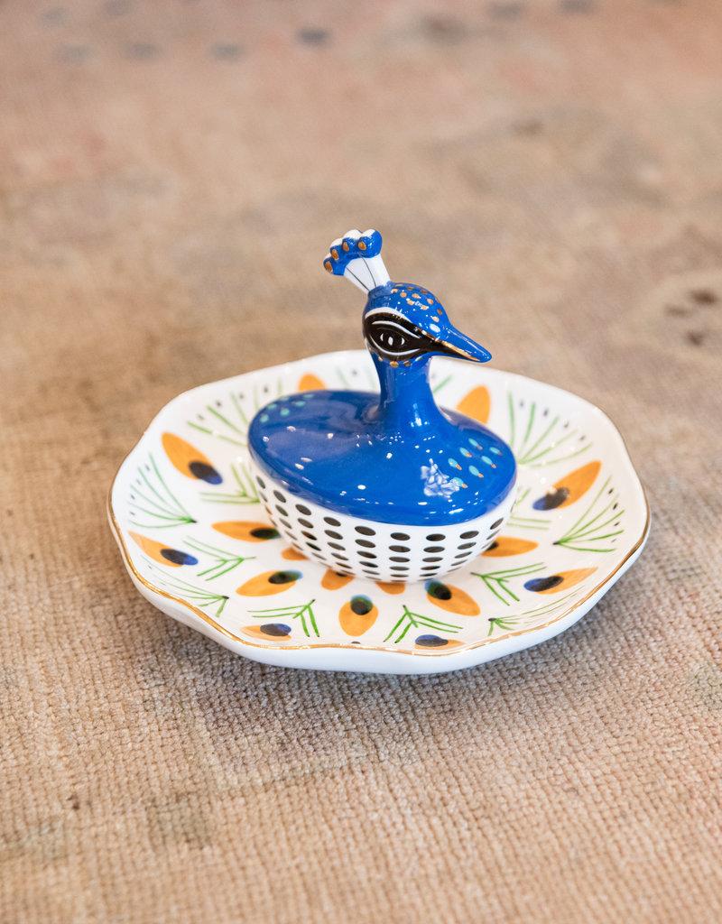 Adelante Peacock Jewelry Dish