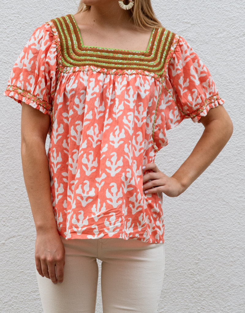 Adelante All Smocked Up Top