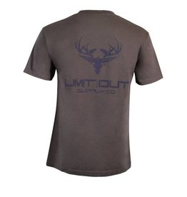 Grey & Navy Cotton T