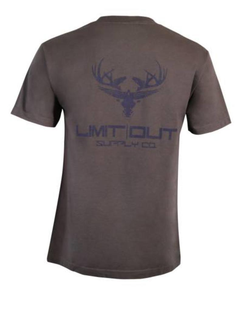 Limit Out Supply Co. Grey & Navy Cotton T