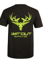 Limit Out Supply Co. Black & Chartreuse Cotton T