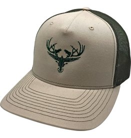 Richardson LOGO Snapbacks Beige/ Hunter Green