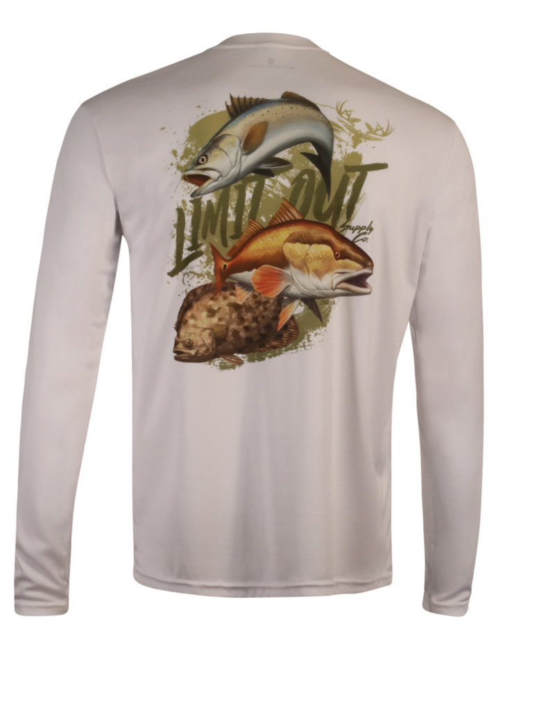 Limit Out Supply Co. Saltwater Trifecta Long Sleeve Dri-Fit