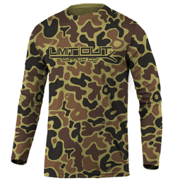 Limit Out Supply Co. Old School Camo- Long Sleeve Dri Fit