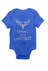 "Limit Out Supply Co. Onesie -""Crawl, Walk, Limit Out"""