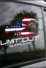 Limit Out Supply Co. American Flag Crawfish Decal