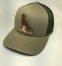 Richardson Leather Labrador Hat / Pale Khaki/Loden