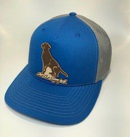 Richardson Leather Labrador Hat / Cobalt Blue/ Grey Mesh