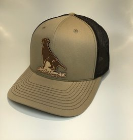 Richardson Leather Labrador Hat / Khaki/ Coffee Mesh