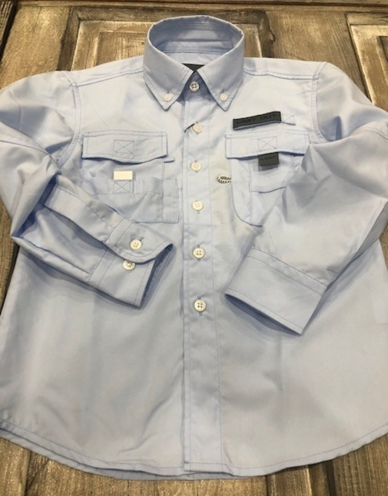 Limit Out Supply Co. Performance Long Sleeve Button Down Fishing Shirt