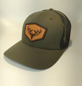 Richardson Leather LOGO Hat / Loden/ Green Camo