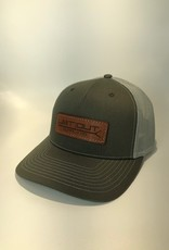 Richardson Leather Pushpole Hat / Beetle/ Quarry Mesh