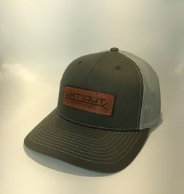 Richardson Leather Pushpole Hat / Beetle/ Quarry Mesh