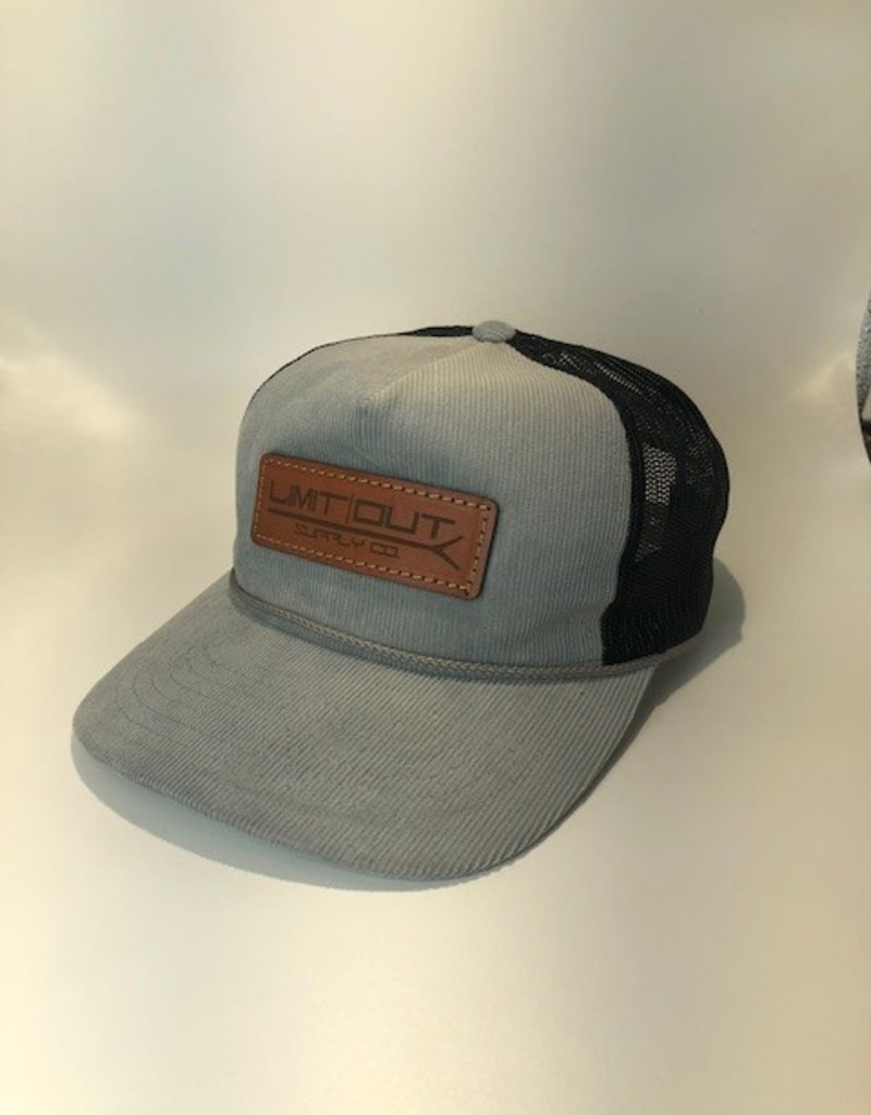 Richardson Leather Pushpole Hat -Corduroy