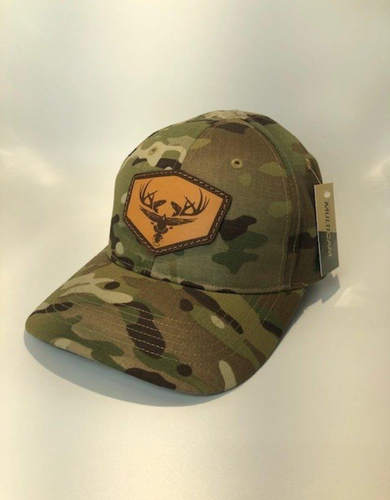 Richardson Leather LOGO Hat / Multicam