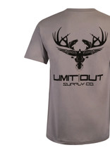 Limit Out Supply Co. Silver & Black Cotton T