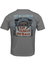 """Limit Out Supply Co. """"Fat Females""""Pima Cotton T"""
