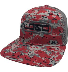 Richardson Hook'D Snapbacks- Double Hook Digital Camo Red