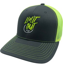 Richardson Hook'D Snapbacks- SIngle Hook Grey /Chartreuse Mesh
