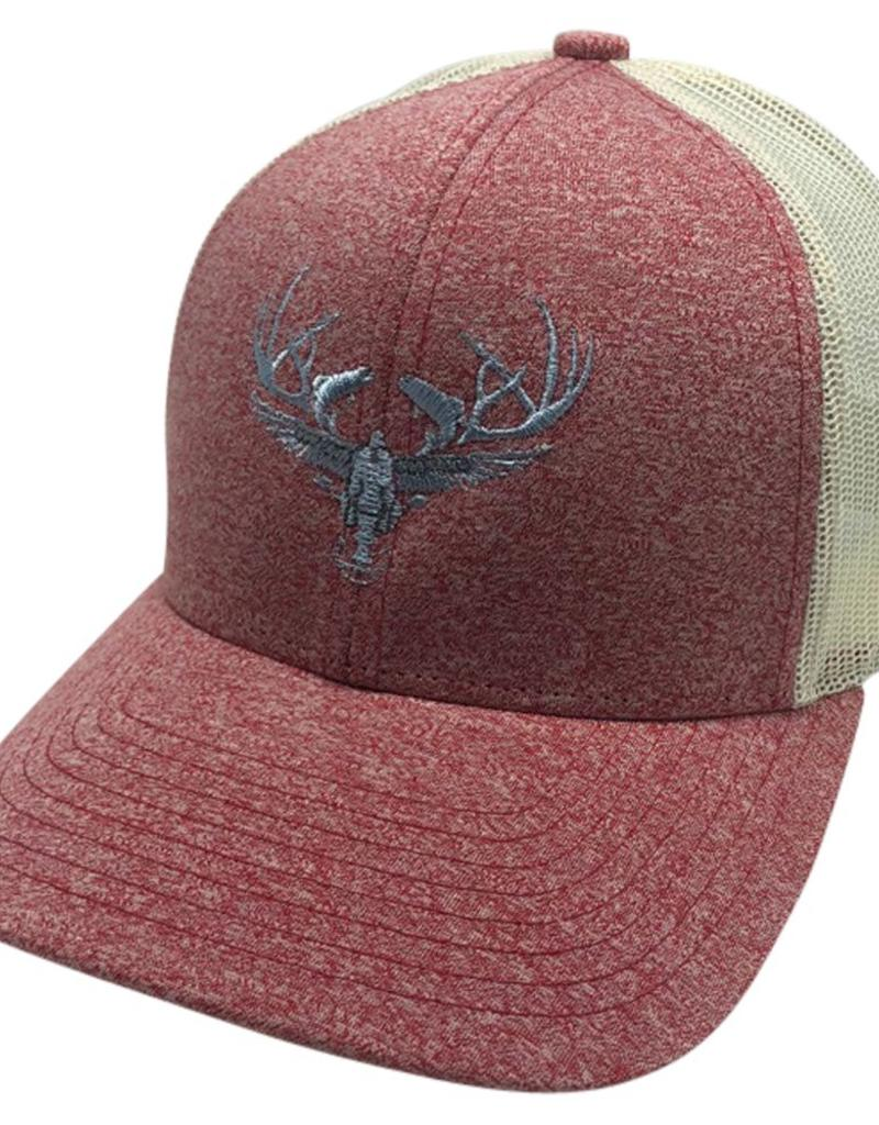 Richardson LOGO Snapbacks Heather Red/ Tan Mesh