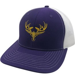 Richardson LOGO Snapbacks Purple/ White Mesh