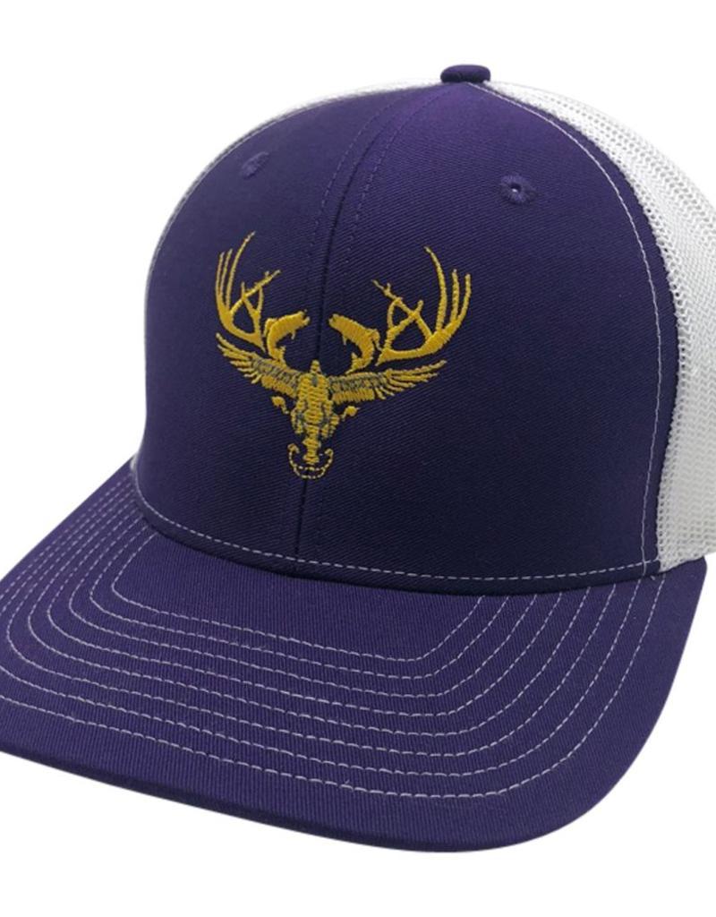 Richardson LOGO Snapbacks Purple/ White Mesh