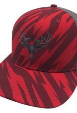 Richardson LOGO Snapbacks Red Stripe/ Grey Mesh