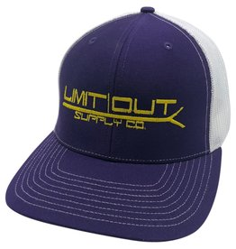 Richardson Snapbacks Purple/ White Mesh