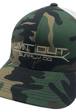 Richardson Snapbacks Old School Camo/ White Mesh