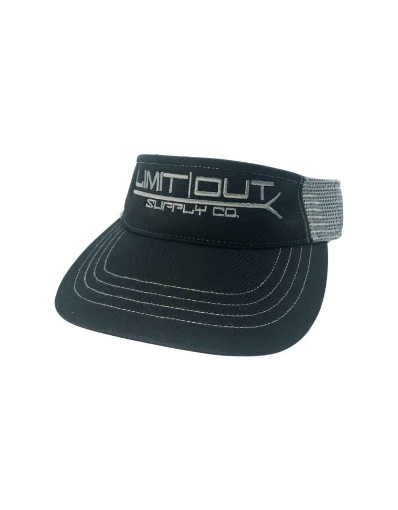 Richardson PushPole Visor  Black/ Charcoal Mesh