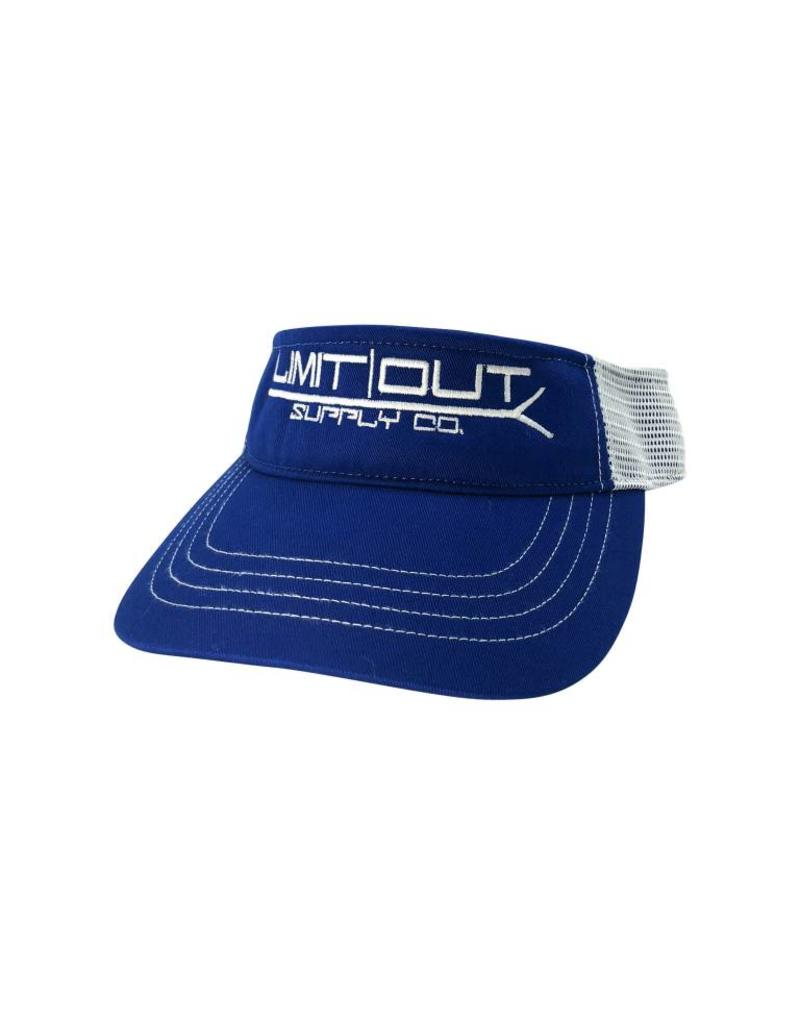 Richardson PushPole Visor  Royal Blue/ White Mesh