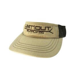 Richardson PushPole Visor  Khaki/ Coffee Mesh