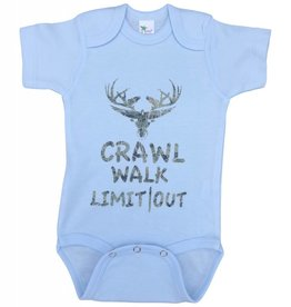 "Limit Out Supply Co. Onesies "" Crawl, Walk, Limit Out"""