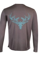 Limit Out Supply Co. Carbon & Teal Long Sleeve Dri-Fit