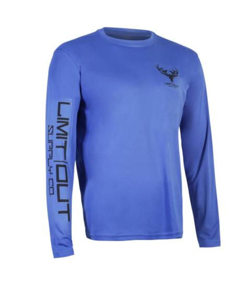 Limit Out Supply Co. Navy Blue Long Sleeve Dri-Fit