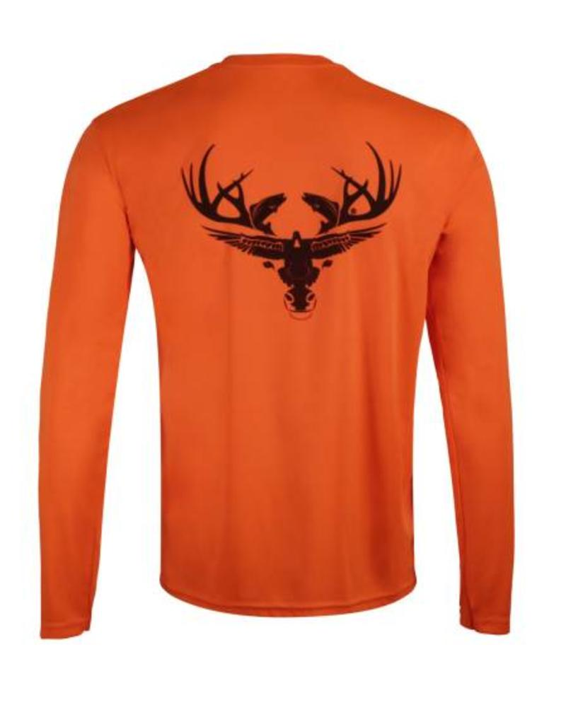 Neon Orange Long Sleeve Dri-Fit