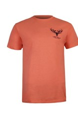 Cotton Ts (50/50) Coral/ Navy Blue