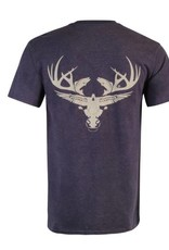 Limit Out Supply Co. Cotton Ts (50/50) Heather Blue/ Cream